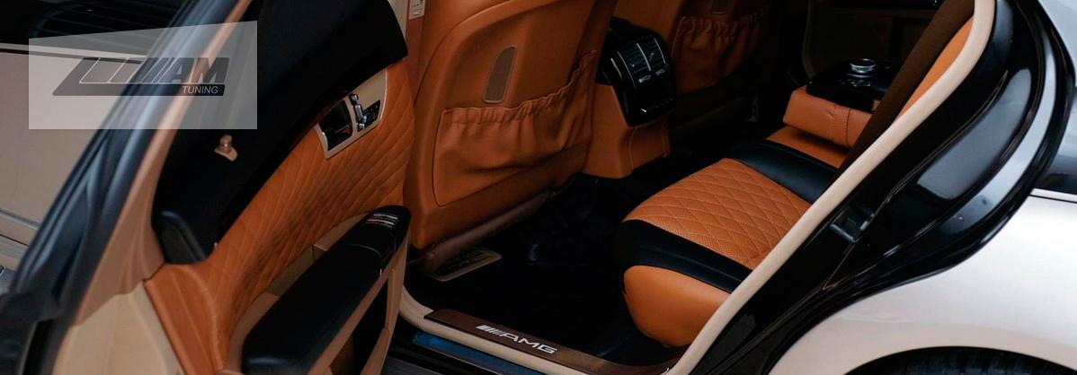 Перетяжка кожей Mercedes 221